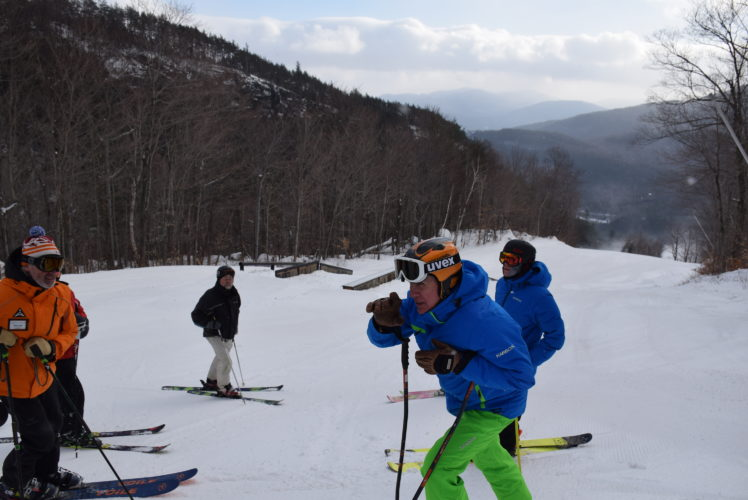 ORDA Senior Vice President Jeff Byrne talks to reporters about the terrain features that Whiteface offers. (Enterprise photo —Justin A. Levine)