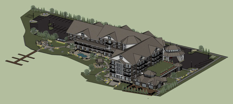 Proposed design of Lake Flower Resort (Image provided)