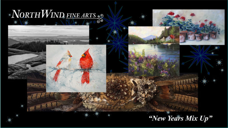 """NorthWind Fine Arts presents its """"New Year's Mix-Up,"""" to celebrate the start of 2017 with an opening from 5 to 7 p.m. Friday, Jan. 6. Gallery artists will be exhibiting exciting new works in many different mediums.  The opening is free and open to the public. Refreshments will be served. NorthWind Fine Arts is a cooperative gallery in the heart of the Adirondacks, located at 11 Woodruff St., Saranac Lake. The gallery can be reached at 518-354-1875. (Image provided)"""