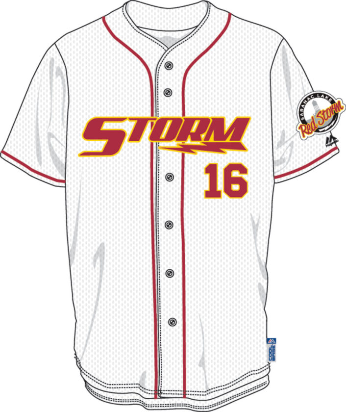 One of the donated Saranac Lake High School baseball uniform designs