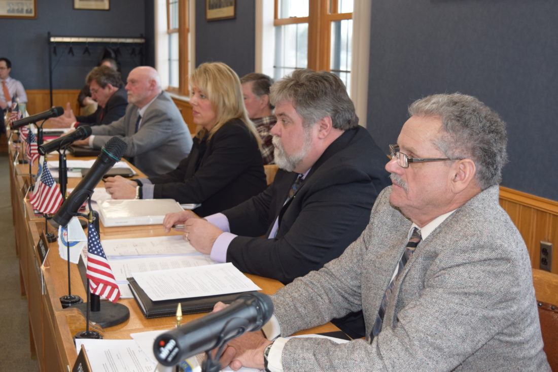 The Franklin County Legislature, seen here at its organizational meeting Thursday in Malone, will include five Democrats and three Republicans in 2017. (Enterprise photo -- Chris Knight)