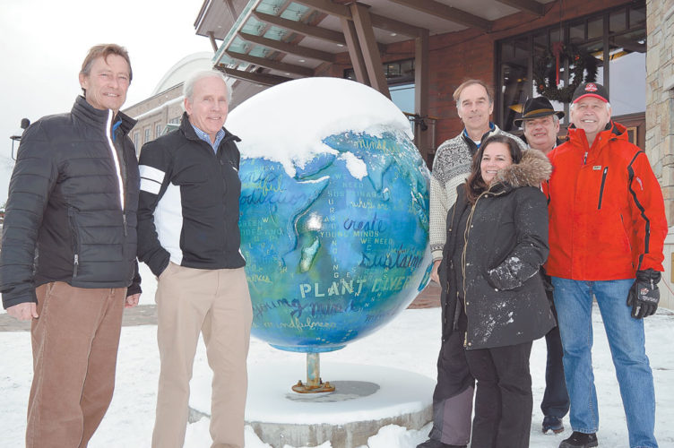 From left, North Elba town Councilman Jay Rand, state Olympic Regional Development Authority Executive Vice President Jeffery Byrne, Athlete Minder CEO Mara Smith, Crowne Plaza Resort President and Adirondack Park Agency Commissioner Art Lussi, Regional Office of Sustainable Tourism CEO Jim McKenna and North Elba Supervisor Roby Politi will take an exploratory trip to Almaty, Kazakhstan, at the beginning of next month to learn more about the World University Games and if Lake Placid could host the international winter sports event. (Enterprise photo — Antonio Olivero)