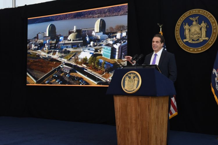 Gov. Andrew Cuomo presents his 2017 State of the State address at 1 World Trade Center in New York City Monday. This is the first of six regional addresses the governor is presenting around New York state. (Photo provided —Kevin P. Coughlin, governor's office)