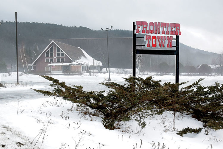 "The main lodge at the former Frontier Town is seen last week as plans were announced by Gov. Andrew Cuomo to create a ""gateway to the Adirondacks"" on this site. (Enterprise photo — Justin Levine)"