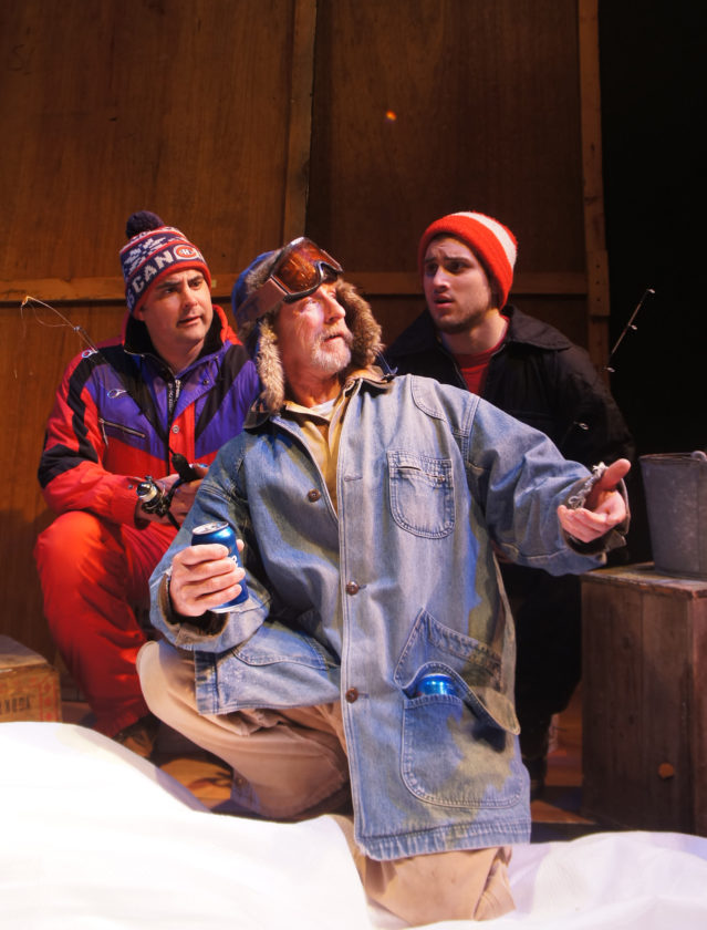 "Pendragon Theatre's ice fishing musical comedy ""Guys on Ice"" will continue with performances at 7:30 p.m. Friday and Saturday at 7:30 p.m. and on Sunday at 2 p.m.  at the theater at 15 Brandy Brook Ave., Saranac Lake. Tickets for the evening shows are $20 and $15 for the matinee. For more information, call 518-891-1854. (Photo provided)"