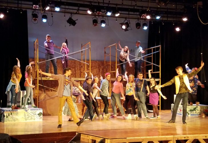 """The TupperLake High School Red and Black Players present """"Godspell"""" this weekend. (Photo provided — George Cordes)"""