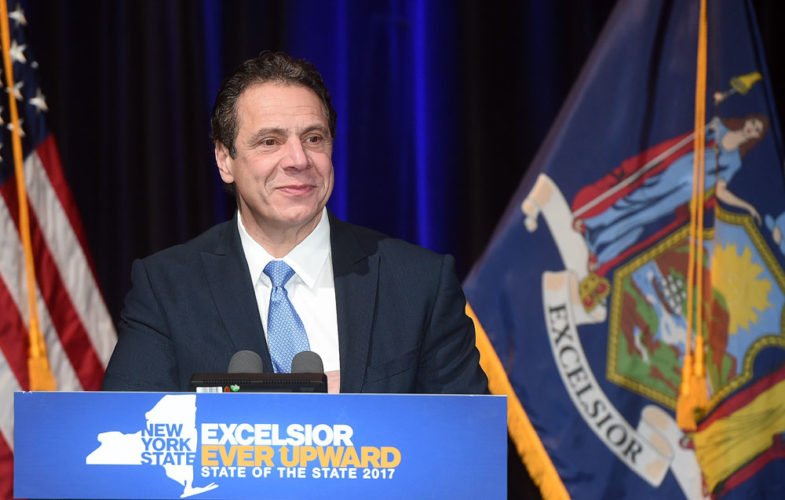 Gov. Andrew Cuomo delivers a State of the State speeches in January. (Photo provided by the governor's office)