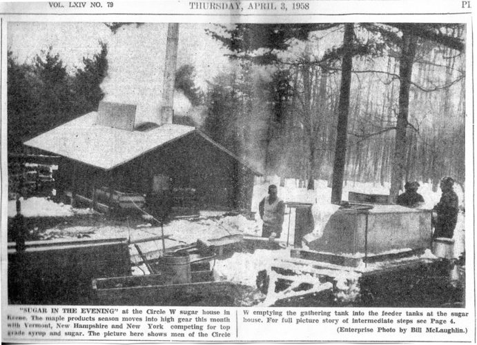 Paul Smith's College had celebrated its first graduating class in 1948 only 10 years before this 1958 Enterprise, so I am guessing that the sophisticated maple sugaring operation they have today did not yet exist.
