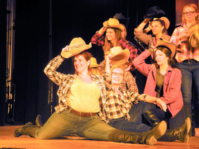 The Lumberjack Rockettes perform Thursday at Tupper Lake's Got Talent. (Enterprise photo — Ben Gocker)