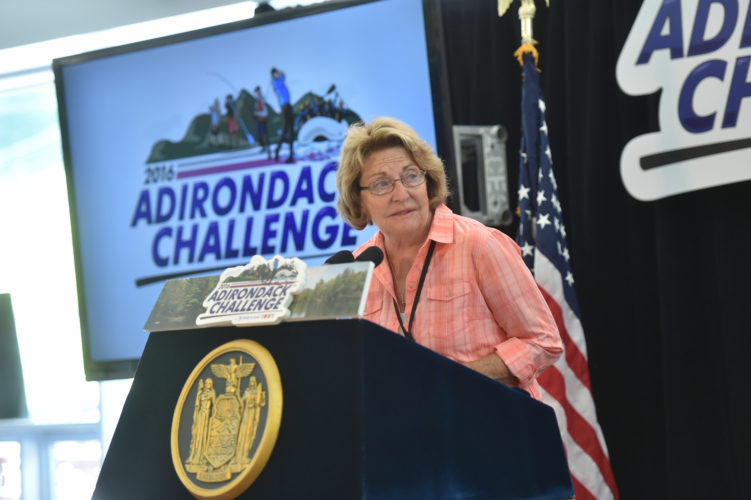 New York state Sen. Betty Little, R-Queensbury, speaks at the Adirondack Challenge event in July 2016. (Photo provided by the governor's office)
