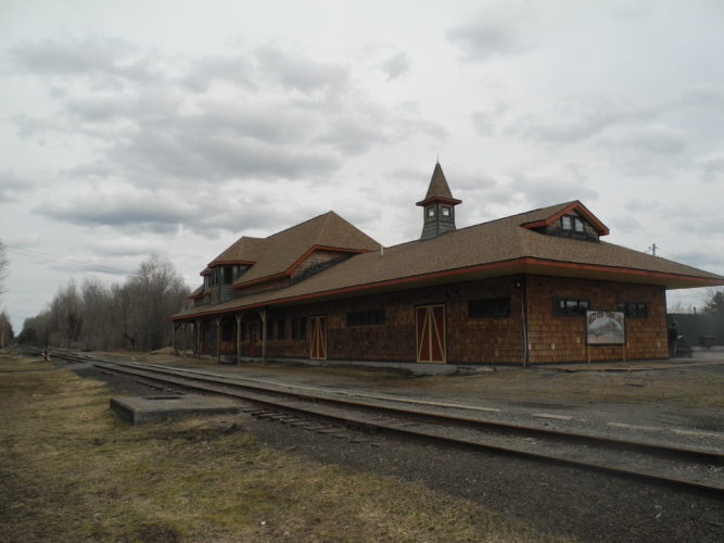 The Tupper Lake train depot on Main Street is seen Tuesday.  (Enterprise photo — Ben Gocker)