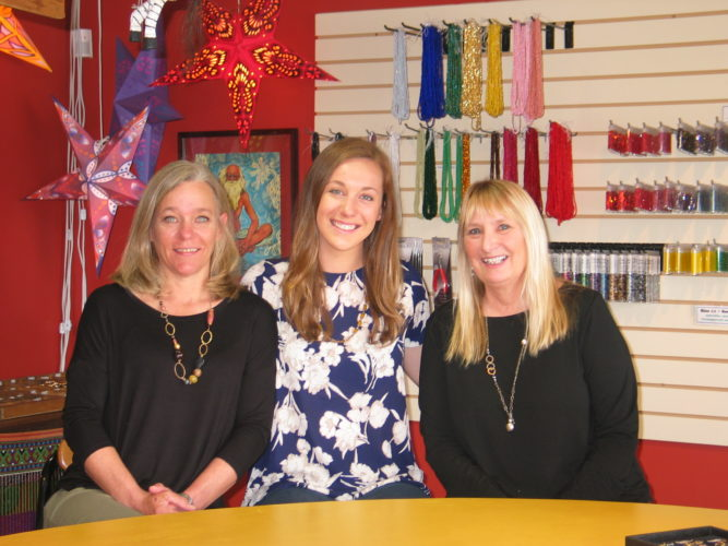 "Just Bead It is under new ownership. Pictured from left are Kandice and Lauren Keyes, who have taken over ownership from Stacy DeClerque. The store is located at 2413 Main St., Suite 1, Lake Placid. The Keyes plan to keep the boutique's ""create your own"" jewelry format and build upon the shop's offerings as a creative outlet for customers as a bead and artisan studio. (Enterprise photo — Carol Swirsky)"