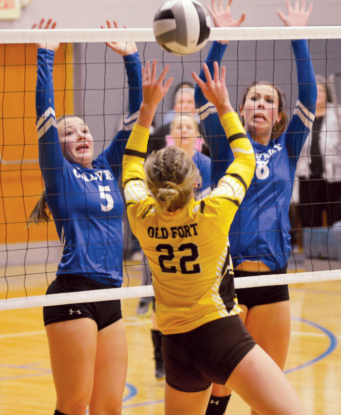 GIRLS VOLLEYBALL: Midlakes rolls to win over Newark