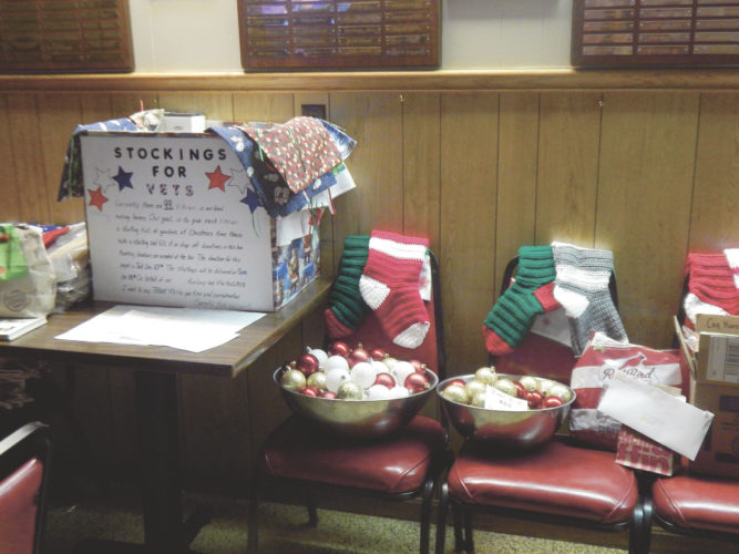 PHOTO BY NICOLE WALBY Pictured are some of the items collected for this year's Stockings for Veterans program.