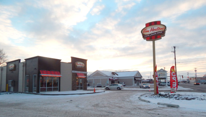 PHOTO BY JIMMY FLINT Tim Hortons, 1630 W. Market St., opened in Tiffin Saturday.