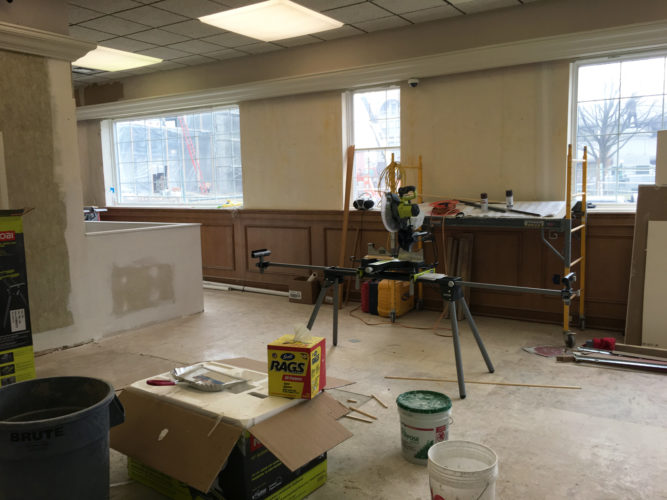 PHOTO SUBMITTED Renovations are under way at the former Fifth Third Bank building, 79 S. Washington.