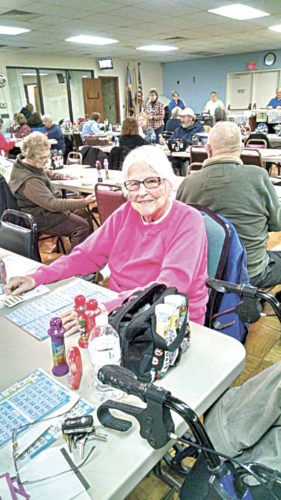 PHOTO SUBMITTED Lois Williams playing bingo at Tiffin Moose.