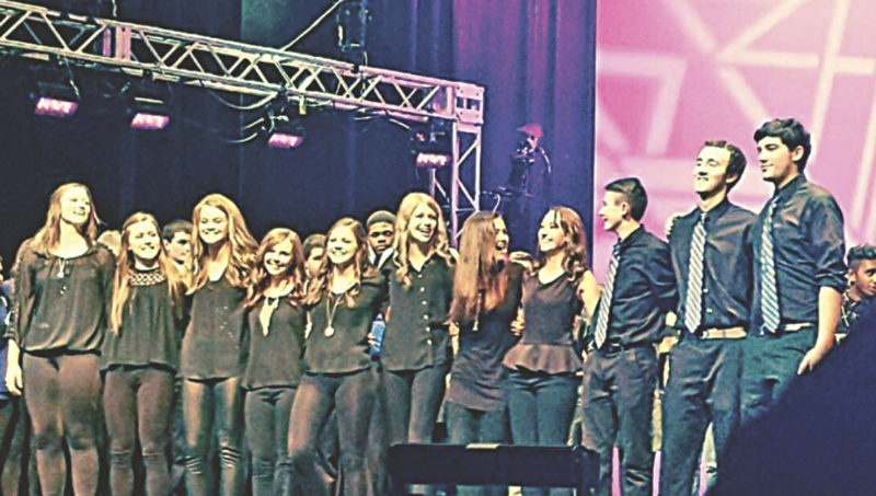 PHOTO SUBMITTED The New Riegel High School a cappella group, Jacket Company, is announced the third place finisher at the International Competition of High School A Cappella in February.