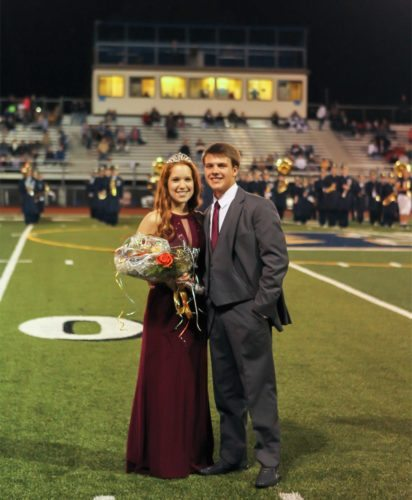 Courtesy photo Hollidaysburg Area Senior High School crowned Casey Martin as homecoming queen. Her escort was Matt Stiffler. Homecoming committees can submit photos of homecoming kings and queens to Brenda Carberry, community news coordinator, Altoona Mirror, P.O. Box 2008, Altoona, PA 16603 or through the Mirror's Virtual News-room at www.altoonamirror.com. For more information, call 946-7459.