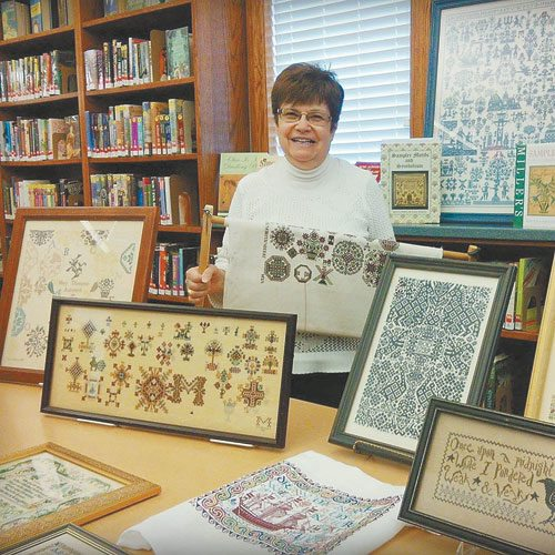 Courtesy photo Needlework created by Joanne McGahagan of Hollidaysburg will be on display in the Hollidaysburg Area Public Library's Community Room during the month of November.