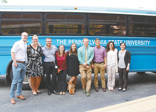 Courtesy photo Pictured is a group of medical students from the Penn State University College of Medicine who visited the Tyrone Regional Health Network campus as part of the Road Scholars Tour. They are (from left): Dustin Kocol, Erica Schenhals, Connor Carmichael, Brittney Imblum, Julia Marsala, Zach Hutchinson, Tom Bloom, Nicole Hammond and Truc Tran.