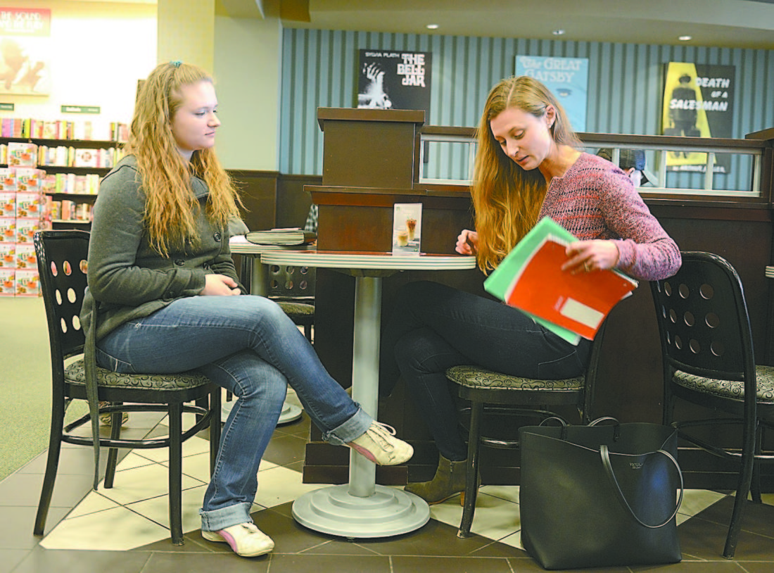students pursue help outside school news sports jobs altoona mirror photo by gary m baranec danielle coakley 17 a student at bellwood antis high school receives some advice about her college choices from