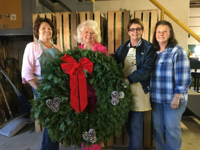 Christmas wreath donated to GFWC Charity Ball