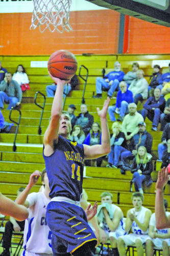 Adam Niemi | Daily News Negaunee's Dre Tuominen shoots against Calumet in a Class C region semifinal Monday in Escanaba.