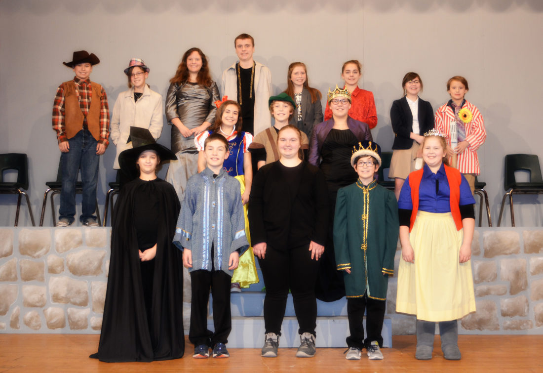 "KLB Photography Holy Name Catholic School sixth- through eighth-graders performed ""The Snow White Variety Show"" on March 2 and 3. The play was directed by Mark Ammel, with assistants Jodi Mutch and Renee Perrault. The Bonifas Fine Arts Center provided costumes for the play."