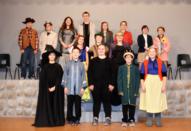 """KLB Photography Holy Name Catholic School sixth- through eighth-graders performed """"The Snow White Variety Show"""" on March 2 and 3. The play was directed by Mark Ammel, with assistants Jodi Mutch and Renee Perrault. The Bonifas Fine Arts Center provided costumes for the play."""