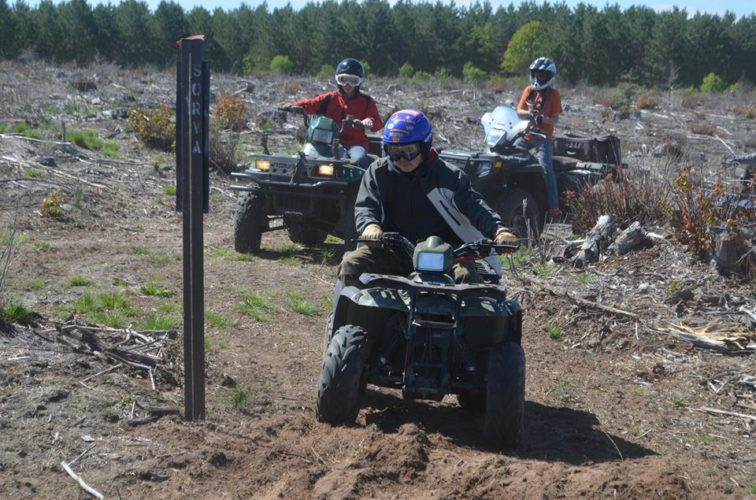 Courtesy photo  A group of ATV/ORV riders travel on a trail. Knowing how to properly operate ORVs is important to staying safe while riding, according to Tim Kobasic, a member of the Sportsmen's Off-Road Vehicle Association (SORVA) of Delta County.