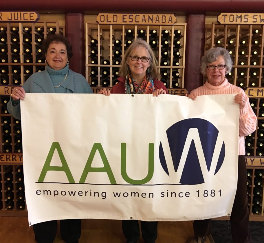 """Courtesy photo American Association of University Women (AAUW) members prepare for the April 25 """"Membership Matters"""" meeting at Leigh's Garden Winery."""