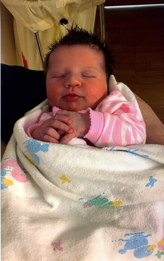 ALWOOD — Joshua Alwood of Escanaba, and Emily Duke of Munising announce the birth of their daughter, Allie Mae, born on March 3, at UP Health System in Marquette. She arrived at 8:05 p.m. weighing 7 pounds, 10.5 ounces and was 19.25 inches long at birth. Karyn Hautamaki and Tim Robare, both of Munising, and Bridie Alwood and Brian Sodergren, both of Bark River are the baby's grandparents. Allie Mae's great-grandparents are Therese Murphy of Escanaba, and James Duke of Munising.
