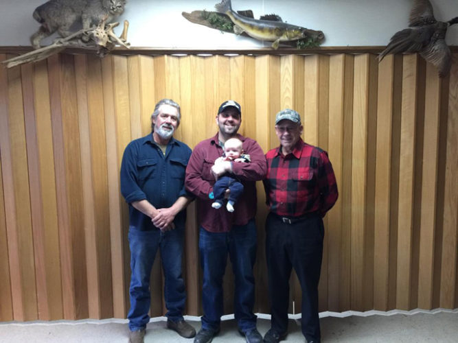 Courtesy photo The Servants have been members of the Great Lakes Sports and Recreation Club in Escanaba, starting with Jon W. Servant, who was one of the founding members. Also members, his son, Jon J. Servant, grandson, Curtis Jon Servant, and great-grandson, Cole Jon Servant.