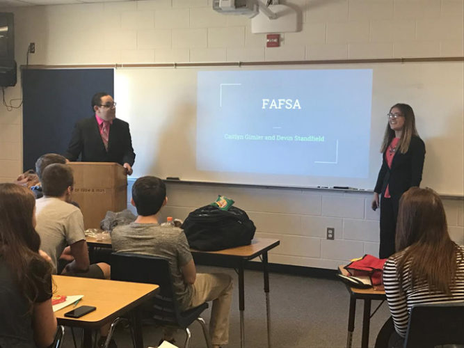 Courtesy photos Gladstone Area School District partnered with local financial advisors and community organizations to improve financial literacy skills in area students.