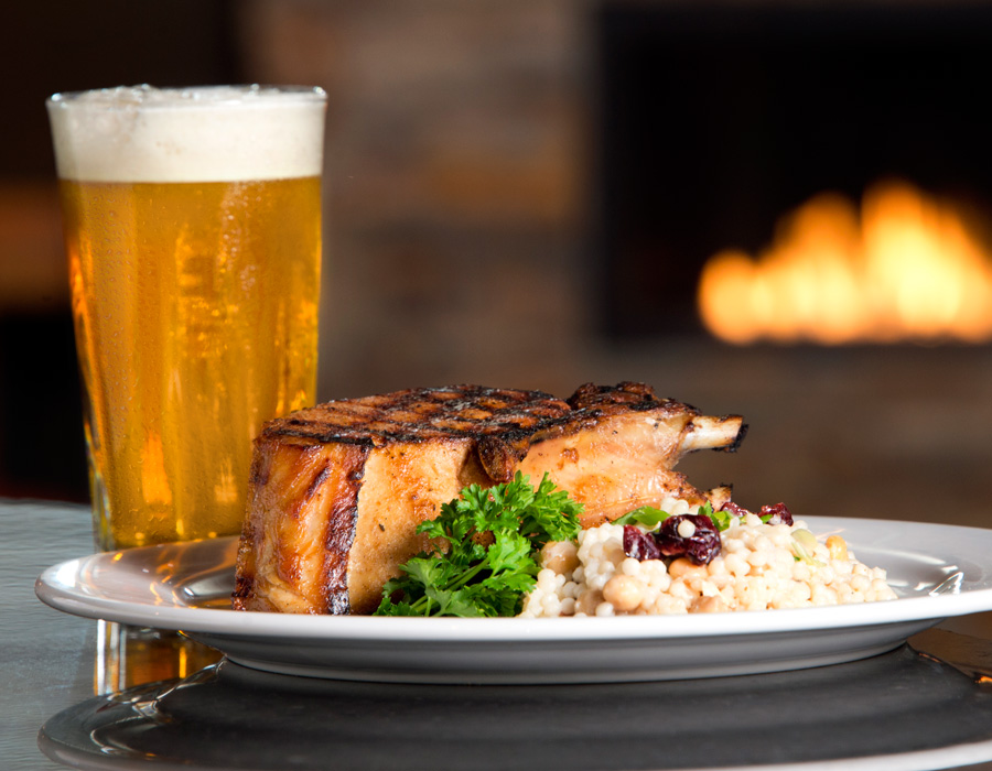 Black Canyon's Double-Cut Pork Chop, photography by Neal Bruns