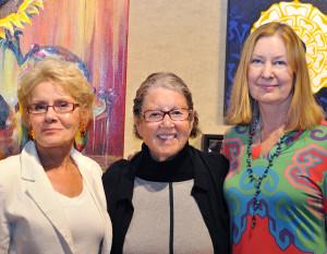Artlink Members Show was July 22 at the Artlink Contemporary Art Gallery. Karen Thompson, Betty Fishman, Celia Latz