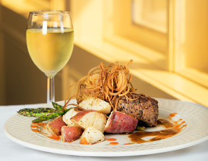 Hall's Guesthouse classic steak and potatoes, photography by Neal Bruns
