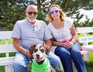 Autism Society of Indiana Autism Acceptance Walk was Sept. 11 at the Allen County Fairgrounds. Mark Leffler, Lisa Leffler, Harley