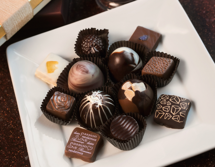 DeBrand chocolates, photography by Neal Bruns