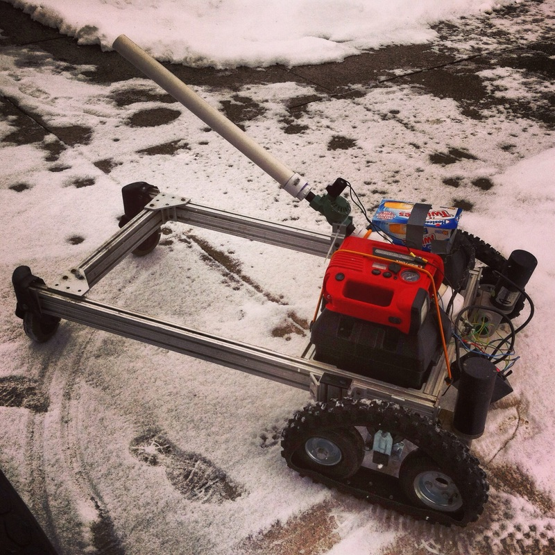 COURTESY AARON MAKIN Aaron Makin's remote controlled snowblower, which got the Fort Wayne resident a bit of internet fame a few years ago, works well and can be in working order this winter if necessary, he says.