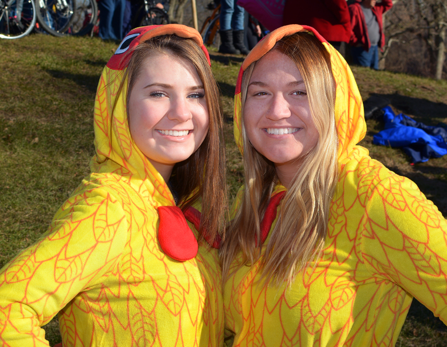 The Polar Bear Plunge was Jan. 1 in Johnny Appleseed Park. Abby Smith, Riley Maddox