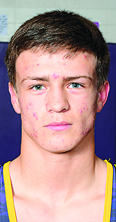 Drake Doolittle, Webster City sophomore, third-ranked at 120 pounds in Class 2A.