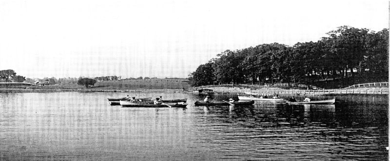 Chatauqua Lake was part of the Harrison County Fairgrounds until it was blasted away on July 4, 1961. This is part of the history that Sue Adams will be talking about at a Sept. 28 program at the Puskarich Public Library. The lake was built in 1913 and was part of the 40 acre tract known as Chautauqua Park and purchased by Harrison County for the fair grounds in 1944 for $9,000. — Contributed
