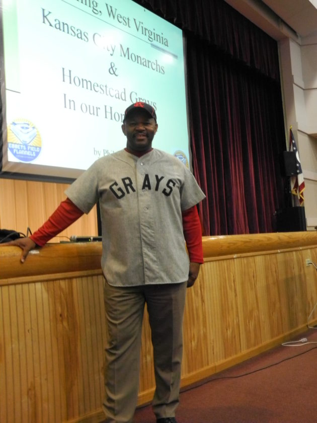 "BUCKEYE LOCAL SPEAKER — Phil S. Dixon became interested in baseball in general and later Negro League Baseball when he began collecting baseball cards in his youth. He memorized statistics on the backs of the cards and by age 19, the avid collector had approximately 50,000 cards. ""There is loads of history on the back of those cards,"" he told youngsters at Buckeye Local High School during an assembly on Thursday. - Esther McCoy"