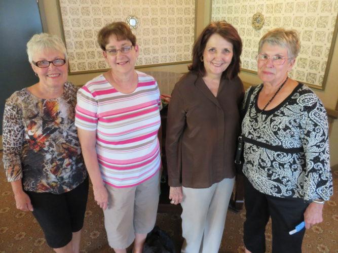 From left, board member Kyle Lucas, Penny Hodovanic, Joyce Pajalich and Sondra Hyde -- Janice Kiaski