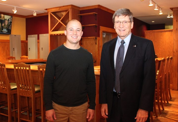 — G-Top, Generations Restaurant's latest venture, will open to the public Wednesday on the West Liberty University campus. With Mike Duplaga of Generations and G-Top, left, is WLU President Stephen Greiner. — Contributed