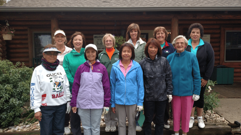CELEBRATE 2016 SEASON —  Members of the Blackmoor Ladies Golf League celebrating the end of the 2016 season are, Front, from left, Lucy Karaan, Dory Elizaga, Latee Chinakarn, Yuko Atwell and Claudia Norris; and back, Cheryl Black, Denise Augustine, Tammy Cox, Lori DeFallo, Linda Caputo and  Signa Findlay. -- Contributed