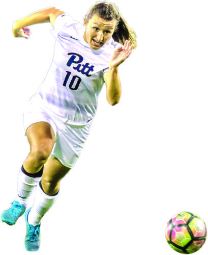 Cheyenne Hudson - Pitt soccer (Photo courtesy Pitt Athletic Department)