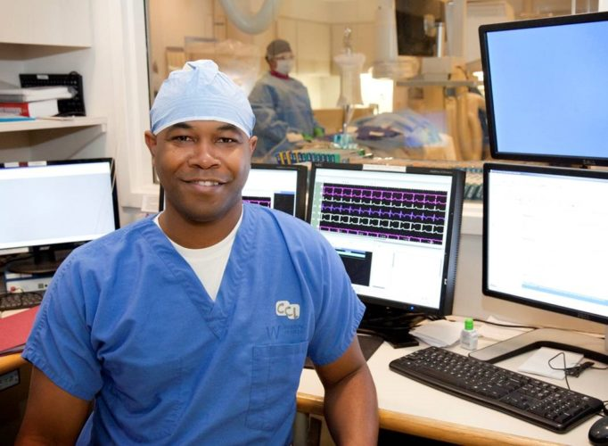 One of the nation's top interventional cardiologists, Dr. Triston Smith, recently performed the region's first cardiac procedure at Wheeling Hospital using dissolving stents. — Contributed